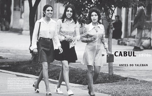 Afghan women in the 1970s before the US-led intervention installing the Taliban